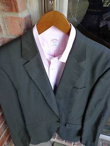 Joseph A Bank Brown 2 Btn Wool Mens Blazer Jacket Sport Suit Coat 44L Long Tall