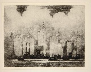 1912 Print New York City Skyline Joseph Pennell NYC Original