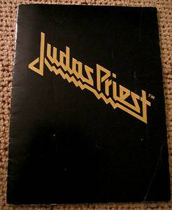 JUDAS PRIEST 1981 CONCERT RARE TOUR BOOK PROGRAM LIVE MAIDEN LEPPARD HEAVY METAL