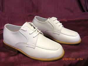 Josmo Boys White Leather Dress Shoe Baby Toddler Size