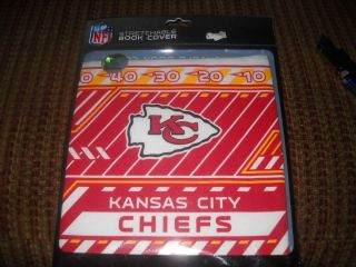 Kansas City Chiefs Stretchable Book Cover New in Package