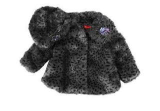 New Authentic Biscotti Kate Mack Baby Girl Toddler Kids Winter Fur