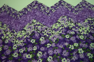 Passion Flower Purple 4 Fabric Quilt Quilting Squares Cotton