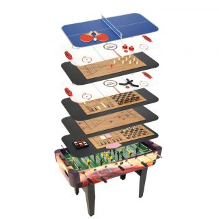 Multi Game Center Table Ping Pong Air Hockey Foosball Checkers Kids