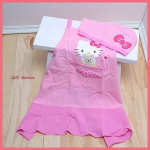 Hello Kitty Kitchen Cooking Apron Hair Cap Kids
