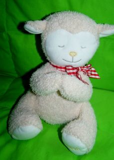 Kids II stuffed Ivory Cream Off White Praying Lamb LEAH prayer friends