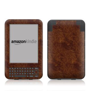 Kindle 3 Skin Cover Case Decal Burl Wood Grain
