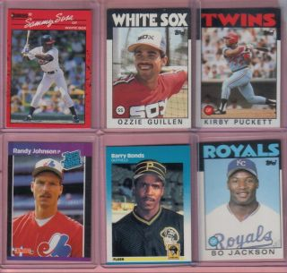 CARD LOT BASEBALL WITH AUTO,JERSEY CARDS RCS BO JACKSON,KIRBY PUCKETT