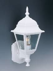 Outdoor Wall Mount Lantern Lighting Lamp White Aluminium 100W 16H x 6
