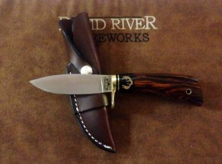 Rapid River Knife Loveless Style Drop Point Carbon Steel Hunting Knife