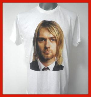 Kurt Cobain Nirvana Rock T Shirt White Size Large