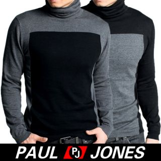 Paul Jones Men Stylish Slim Fit Turtleneck Knit Sweater Cardigan