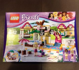 LEGO Friends Heartlake City Pool Set 41008 Andre Isabella 423 Pc NIB