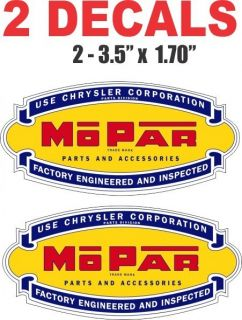 Dodge Mopar Chrysler Plymouth Factory Engineered Decals Nice