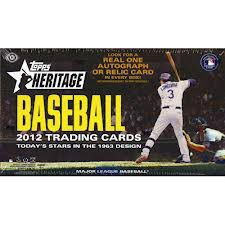 2012 Topps Heritage Baseball Hobby Box Factory Sealed **SP VAR and ERR