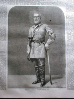 Civil War Newspaper w Cover Engraving Confed Gen Robert E Lee