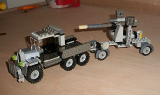 Lego German Army Truck ww2 era w 88 mm Flak anti aircraft tank gun