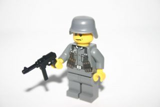 Custom Lego WWII World War 2 Mp40 German Soldier Minifig Army Builder