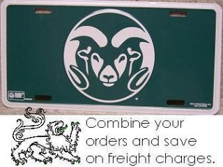 NCAA Aluminum License Plate Colorado State Rams New