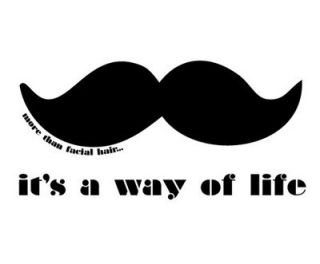Modern Mustache Decal Way Of Lif Sticker For Car Truck Boat Trailer