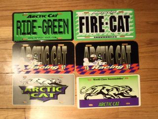 Arctic Cat aluminum License plate tag cover Artic Collectable