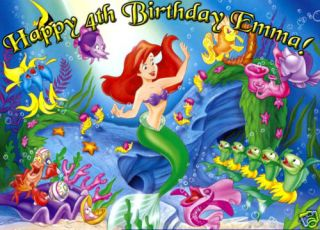 Ariel Edible Cake Image Icing Topper Little Mermaid