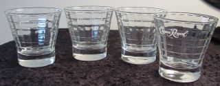 Crown Royal whiskey lowball bar rocks glasses cube pattern 3 5 x 3 5