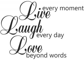 Live Laugh Love Quotes Decal Sticker Vinyl Wall Art Home Decoration