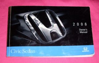2006 06 Honda Civic Sedan Owners Manual Guide Book Kit Handbook OEM DX