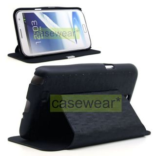 Luxmo Matrix Black Flip Stand Hard Pouch Cover for Samsung Galaxy Note