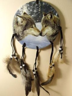 Dia Wolf Pack Wolves Dream Catcher Mandella Mandela Decor Art 4