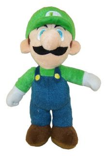 Super Mario   Plush Figure   LUIGI ( 9 inch )   Stuffed Animal Toy