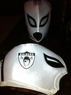 Oakland Raiders NFL Wrestling Mask Mexican Nacho Libre One Size