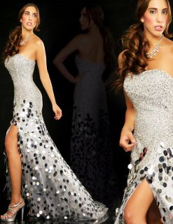 Dana Mathers Luna Dress Formal Gown Prom Pageant Dress Size 8 $598