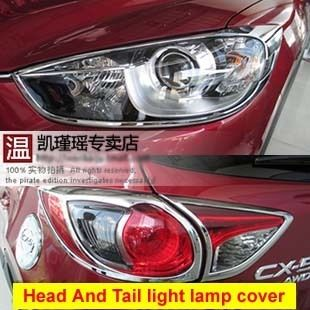 For Mazda CX 5 CX5 2012 2013 Chrome Head Light and Tail Light Lamp