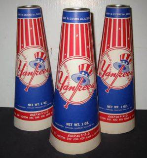 Old C 1960 Vintage New York Yankees Baseball Popcorn Megaphones