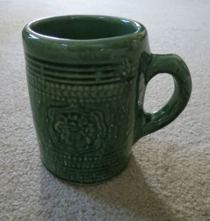 McCoy Pottery Early Grape Shield Green Beer Mug Stein