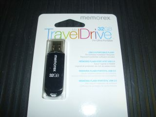 Memorex 98188 Memorex 32GB Mini TravelDrive USB 2 0 Flash Drive Kit