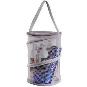 College Dorm Home Bathroom Caddy Shower Mesh Tote