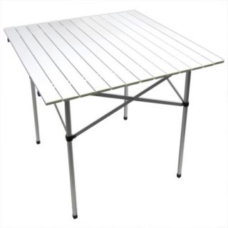 Collapsible Metal Picnic Table Portable Roll Up Table