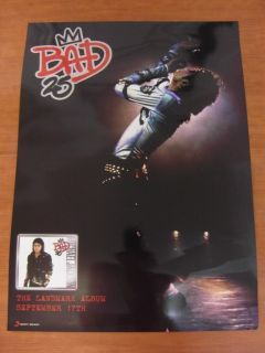 Michael Jackson Bad 25th Anniversary 2Sided Official Poster New