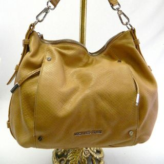 Michael Kors AUTH Bowen Python Leather Large Hobo Handbag Purse Hobo
