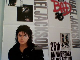 Michael Jackson Bad Memorabilia Poster Rare King Of Pop MJ Vintage