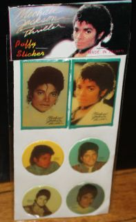 MICHAEL JACKSON puffy THRILLER stickers Rare Original Vintage MJ