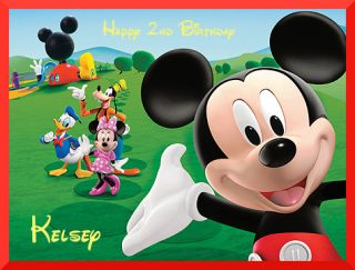 Mickey Mouse Clubhouse Edible Cake Image 1 4 Sheet