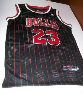 Michael Jordan 23 Chicago Bulls NFL Black Jersey 48M Medium New