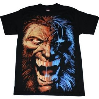 Wolverine Midnight Snack Angry Face T Shirt Black Tee Marvel x Men