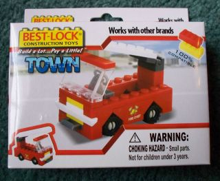 Construction Toy Fire Truck Mini Building Block Set 9014627
