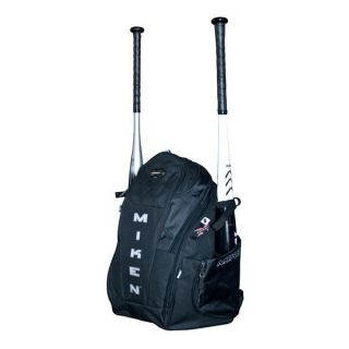 Miken Rookie Baseball Softball Backpack Bat Bag Black