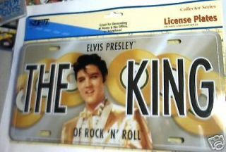 ELVIS PRESLEY THE KING License Plate Tin SIGN